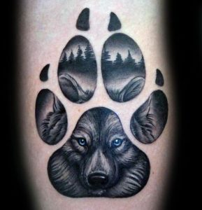 Paw Print: Wolf Tattoos