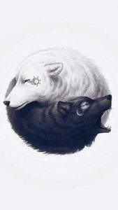 Yin Yang Wolf Tattoos