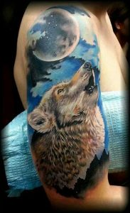 Howling Wolf Tattoos