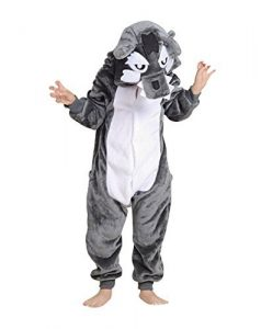 Children's Halloween Cosplay Wolf Animal Pajamas Animal Onesie Sleepwear: gifts for wolf lovers