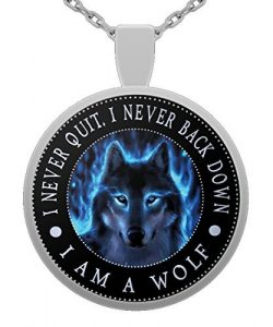 """I am Wolf"" Native American Spirit Wolf Head Pendant Necklace: gifts for wolf lovers"