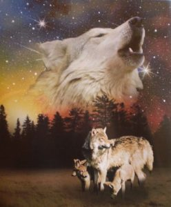 Wolf Family Super Soft Polar Fleece Throw Blanket: gifts for wolf lovers